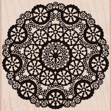 Doily Circle Lace Rubber Stamp