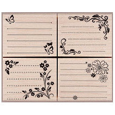 Message Rubber Stamps LL256