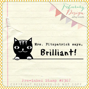 Cat Stamp • Personalized Teacher Pre-inked Stamp