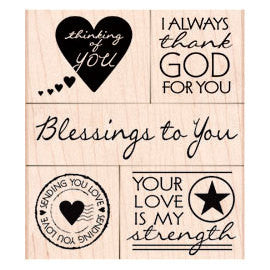 Blessing To You (OWH) Hero Arts Mounted Rubber Stamp Set