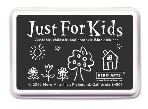 Just For Kids Black Ink Pad