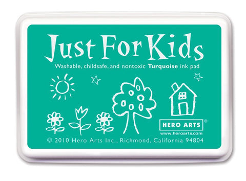 Just For Kids Turquoise Ink Pad