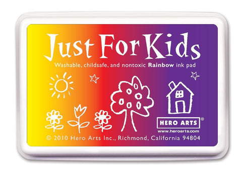 Just For Kids 3-Color Rainbow Ink Pad