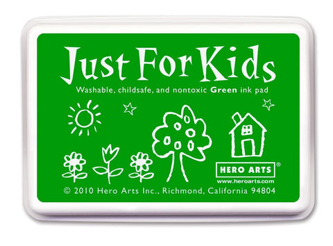 Just For Kids Green Ink Pad