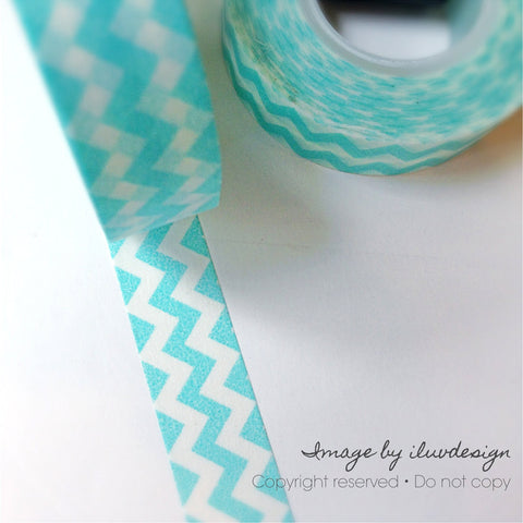 Aqua Teal Decorative Tape Works