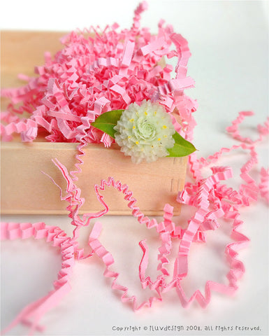Light Pink Paper Shreds • Pink Crinkle Cut Basket Filler (9oz)