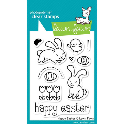 "Happy Easter Lawn Fawn Clear Stamps 3""X4"""
