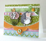 Easter Exchange Hedgehog Rubber Stamp