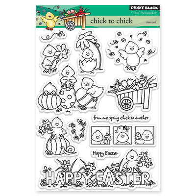 Happy Easter Stamp Chick To Chick • Penny Black Clear Stamps