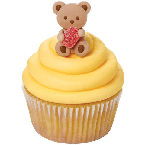 Bear and Gum Drop Icing Decoration (12/Pkg)