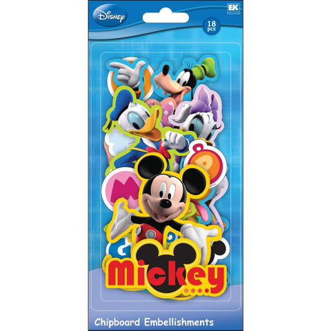 Disney Chipboard Embellishments • Mickey Friends • Mickey Mouse, Minnie Mouse, Donald Duck