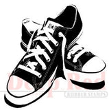 "All Star Sneakers Rubber Stamp • Sneakers Deep Red Cling Stamp 2""X2"""