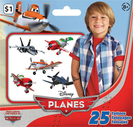 Disney Planes Temporary Tattoos • Mini Tattoo Bag 25ct