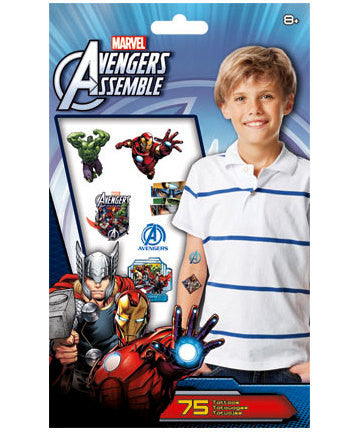 Avengers Assemble Temporary Tattoos 75ct