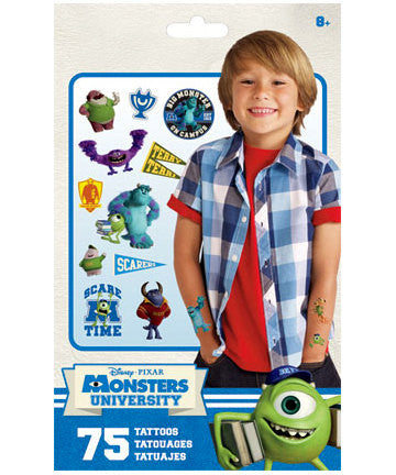 Monsters University Temporary Tattoos 75ct