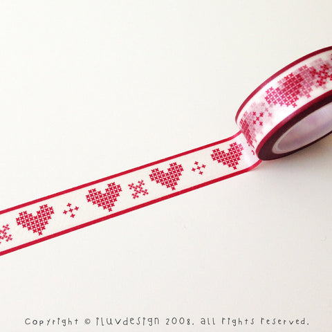 Cross Stitch Heart Washi Tape