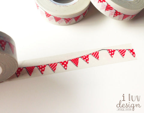 Red Bunting Washi Tape Works