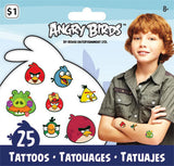 Angry Birds Temporary Tattoos • Angry Birds Mini Tattoo Bag 25ct