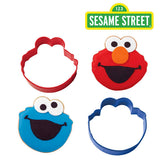 Sesame Street Cookie Cutter Set  2/Pkg • Elmo & Cookie Monster Cookie Cutter Set