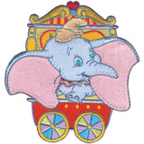 Disney Dumbo In Red Circus Car Iron-On Applique