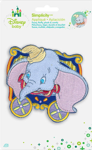 Disney Dumbo In Blue Circus Car Iron-On Applique