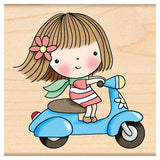 Scooter Mimi Rubber Stamp