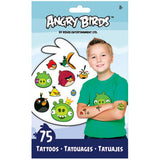 Angry Birds Temporary Tattoos 75ct
