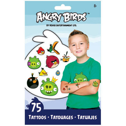 Party Favors: Angry Birds Temporary Tattoos. These tattoos make great party favors.  Fill your treat bags or boxes with these awesome tattoos and let your guests go wild. Your little friends will love them for sure =)