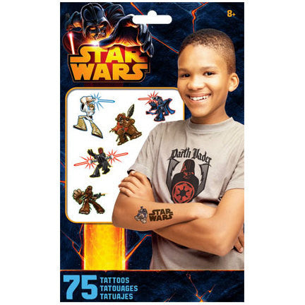 Star Wars Temporary Tattoos 75ct