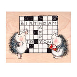 Crossword Hedge-Word Penny Black Rubber Stamp