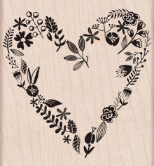 Love From The Garden Rubber Stamp