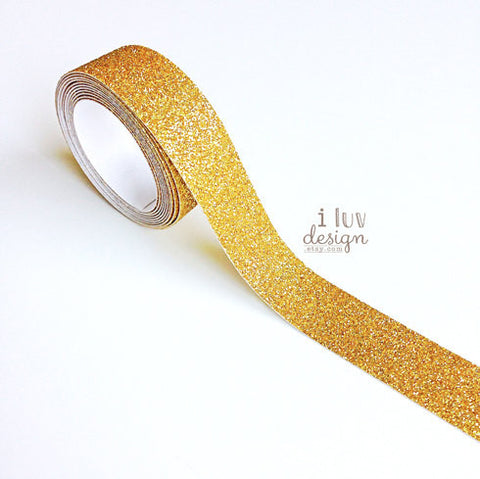 Gold Glitter Tape • Gold Decorative Tape
