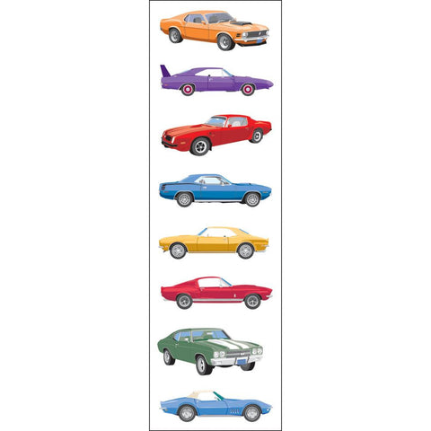 Classic Cars Stickers (3 Sheets)