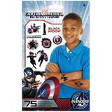 Captain America 2 The Winter Soldier Temporary Tattoos 75ct