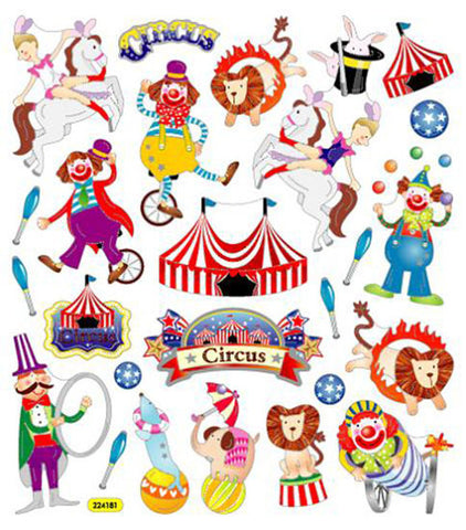 Circus Time! Circus Stickers