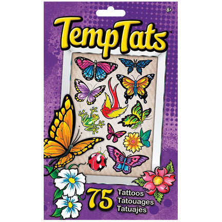 Butterfly Beauties Temporary Tattoos 75ct