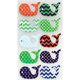 Patterned Whales Sticko Stickers