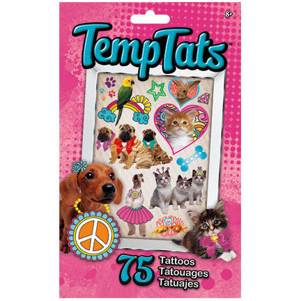 Furry Friends Temporary Tattoos 75ct