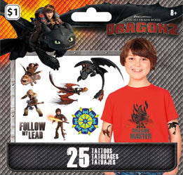 How To Train Your Dragon 2 Temporary Tattoos • Mini Tattoo Bag 25ct