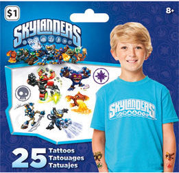 Skylanders Temporary Tattoos • Mini Tattoo Bag 25ct