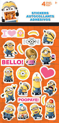 Despicable Me 2 Minions Stickers (4 sheets)