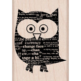 Newspaper Owl Stamp