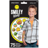 Smiley World Temporary Tattoo 75ct
