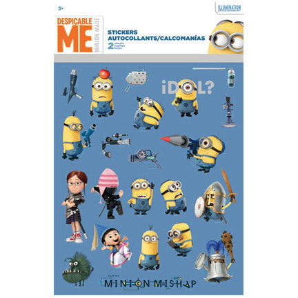 Despicable Me 2 Minions Stickers (2 sheets)