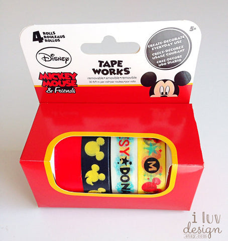 Mickey Mouse & Friends Disney Tape (Box of 4 Tape) Tape Works
