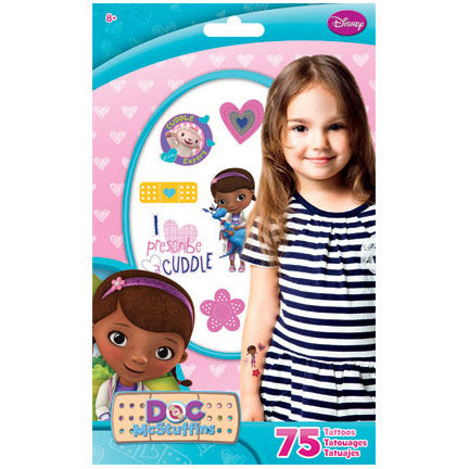 Doc McStuffins Temporary Tattoos 75ct