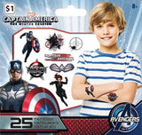 Captain America 2 The Winter Soldier Temporary Tattoo • Mini Tattoo Bag 25ct