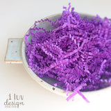 Lavender Crinkle Paper Shred • Purple Spril Fill • Crinkle Cut Basket Filler (9oz)