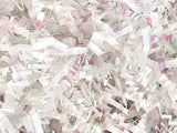 White & Iridescent Crinkle Paper Shred • Crinkle Cut Basket Filler (9oz)