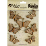 Darjeeling Paper Wild Butterflies Craft Brown (7/Pkg)